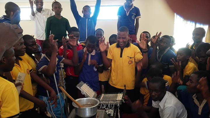 We can reduce malaria risk by using deaf students to make mosquito repellent candles